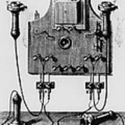 Illustration Of The Bell Telephone Art Print