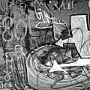 Image Of Graffiti In Edmonton Alberta Art Print