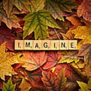 Imagine-autumn Art Print