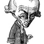Immanuel Kant, Caricature Art Print