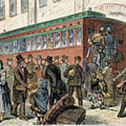 Immigrants, Nyc, 1880 Art Print