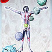 Immune System Components Art Print by Hans-ulrich Osterwalder