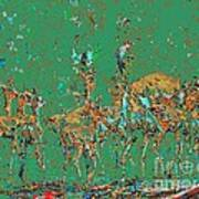 Impalas In The Green Bush Art Print
