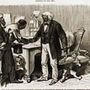 In 1877 Frederick Douglass 1818�95 Print by Everett