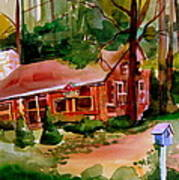 In A Cottage In The Woods Art Print