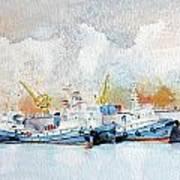 In Attesa Attorno Al Bacino Art Print