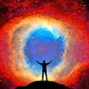 In Awe Of The Helix Nebula Art Print
