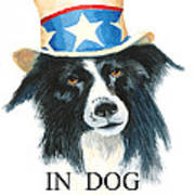 In Dog We Trust Greeting Card Art Print