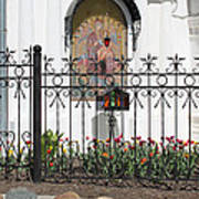 In Front Of Church Art Print
