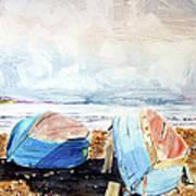 In Secca Sulla Spiaggia Art Print