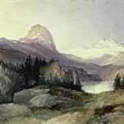 In The Bighorn Mountains Art Print by Thomas Moran