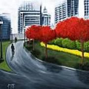 In The City 2 Art Print