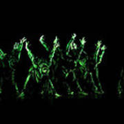 In The Green Light Art Print