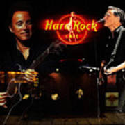In The Hard Rock Cafe Art Print by Steve K