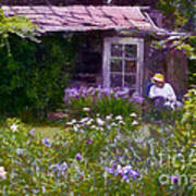 In The Iris Garden Art Print