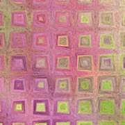 In The Pink With Squarish Squares  Art Print
