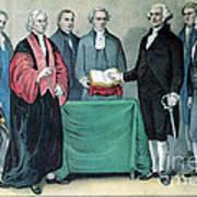 Inauguration Of George Washington, 1789 Print by Photo Researchers