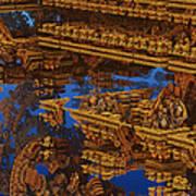 Inca Gold In The Galaxy Pawnshop. Art Print
