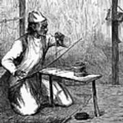 India: Pearl Borer, 1876 Art Print