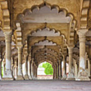 India, Uttar Pradesh, Agra, Agra Fort, Hall Of Public Audience Art Print