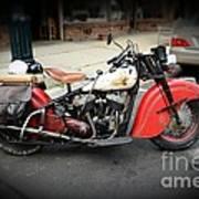 Indian Chief Motorcycle Rare Art Print