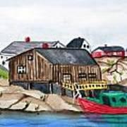 Indian Harbour Peggys Cove  Nova Scotia Art Print