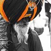 Indian Man Wearing Turban Art Print