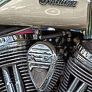 Indian Motorcycle Engine Art Print
