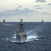 Indian Navy Corvette Ship Ins Kulish Art Print