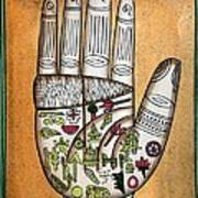 Indian Palmistry Map Print by Victor De Schwanberg