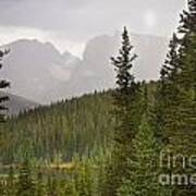 Indian Peaks Colorado Rocky Mountain Rainy View Art Print