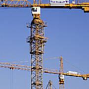 Industrial Cranes Art Print