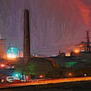 Industrial Lights Art Print