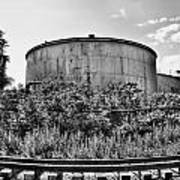 Industrial Tank In Black And White Art Print