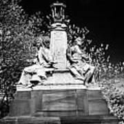 industry and commerce bronze sculpture on the kelvin way bridge kelvingrove park Glasgow Scotland UK Art Print