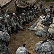 Infantrymen Receive Their Safety Brief Art Print