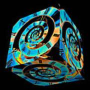 Infinity Time Cube On Black Art Print