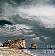 Infrared Aphrodite Rock Art Print