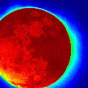 Infrared Super Moon 2012 Art Print