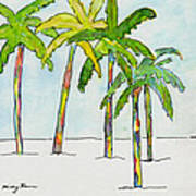 Inked Palms Art Print