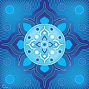 Inner Guidance - Blue Version Art Print