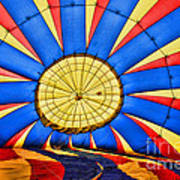 Inside A Hot Air Balloon Art Print