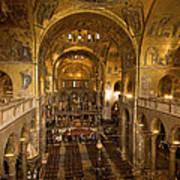 Inside San Marcos Basilica Art Print by Jim Richardson