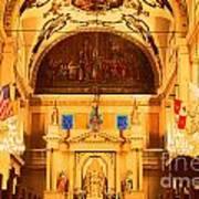 Inside St Louis Cathedral Jackson Square French Quarter New Orleans Film Grain Digital Art Art Print
