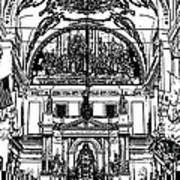 Inside St Louis Cathedral Jackson Square French Quarter New Orleans Stamp Digital Art Print by Shawn O'Brien