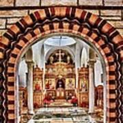 Inside St. Nicholas Chapel At A Greek Monastary In Florence Az Art Print
