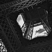 Inside The Eiffel Tower Art Print
