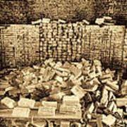 Inside The Historical Brick Kiln Decatur Alabama Usa Art Print