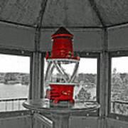 Inside The Lighthouse Tower #2. Uostadvaris. Lithuania. Art Print