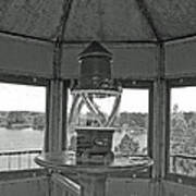 Inside The Lighthouse Tower. Uostadvaris. Lithuania. Art Print
